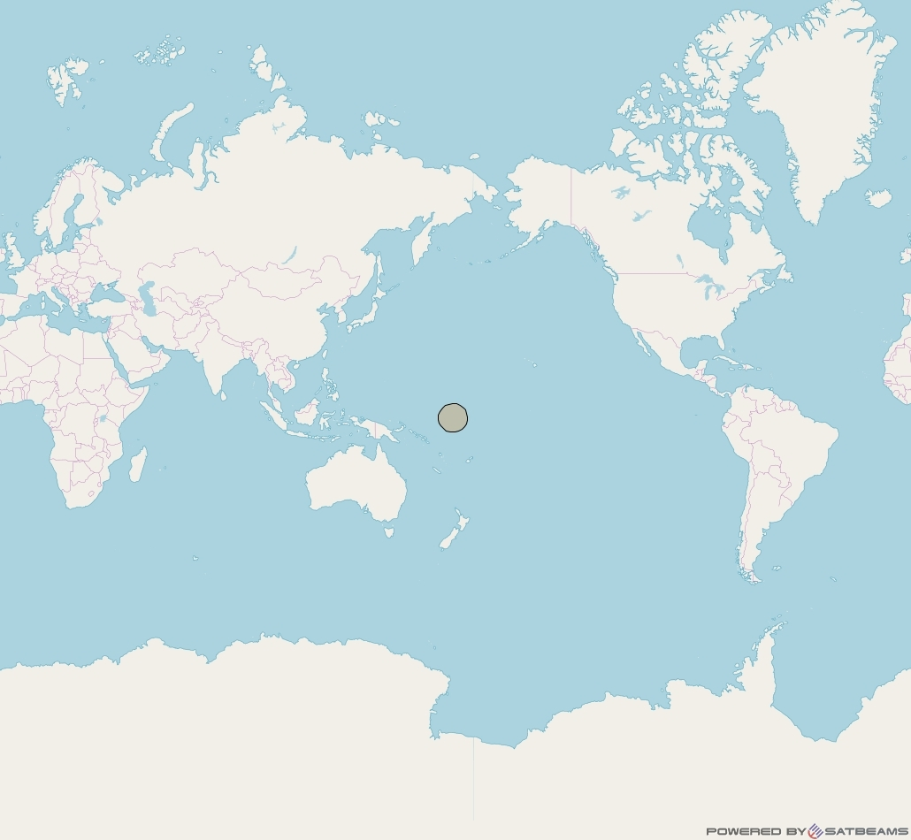 Inmarsat-5F3 at 180° E downlink Ka-band S33DL Spot beam coverage map