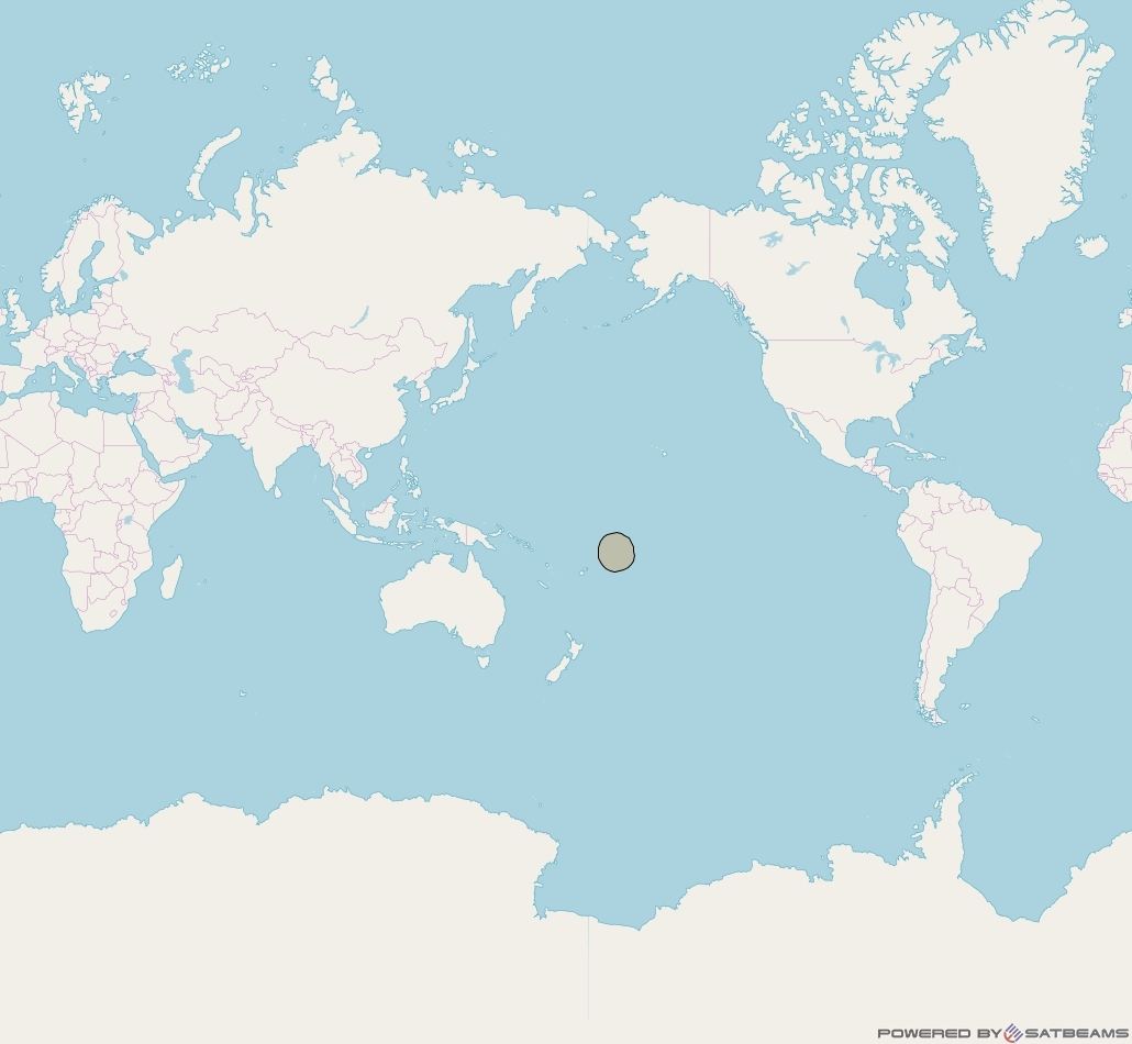 Inmarsat-5F3 at 180° E downlink Ka-band S52DL Spot beam coverage map