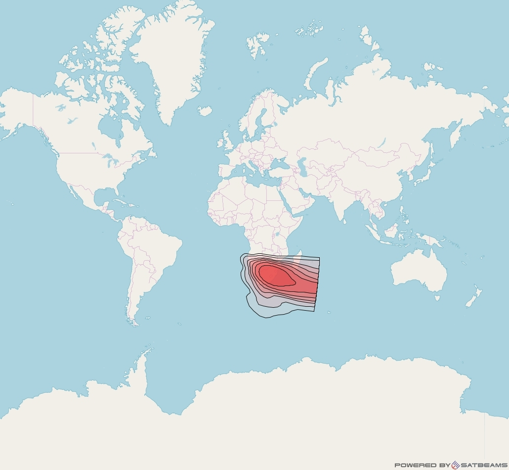 Intelsat 37e at 18° W downlink Ku-band Spot35 User beam coverage map