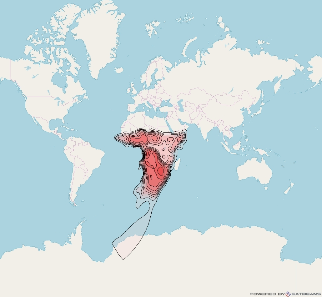Intelsat 28 at 33° E downlink Ku-band AFKV (Africa) beam coverage map
