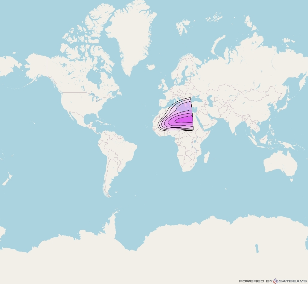 Intelsat 902 at 50° W downlink C-band North East Zone beam coverage map