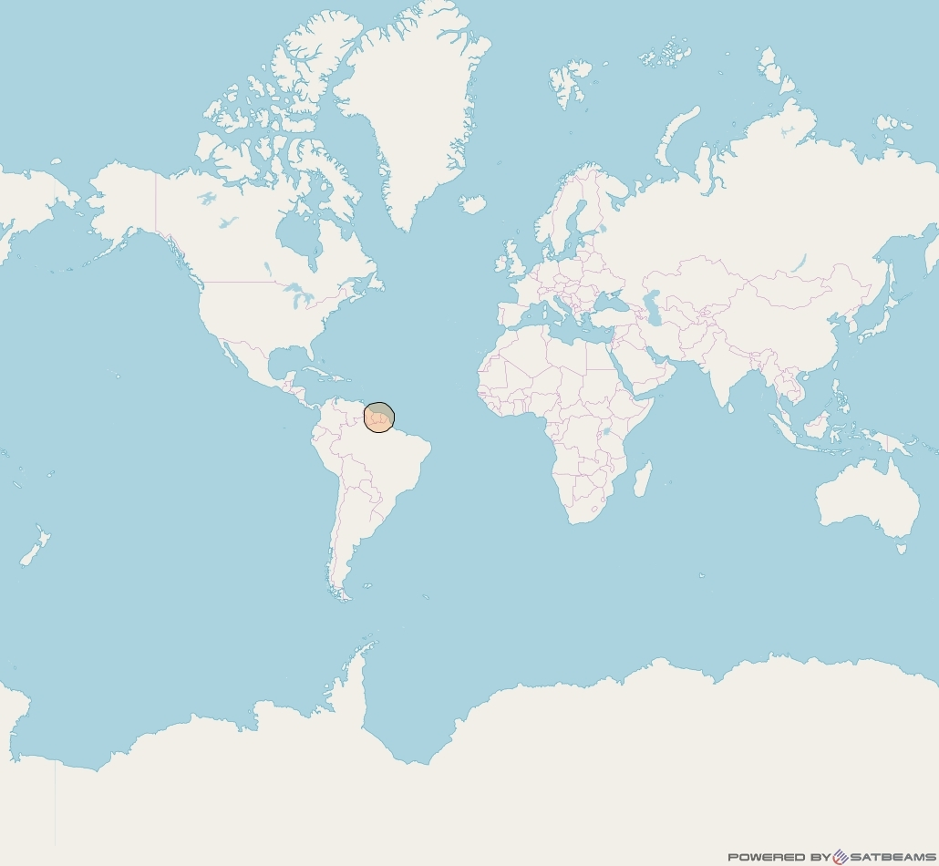 Inmarsat-5F2 at 55° W downlink Ka-band S44DL Spot beam coverage map