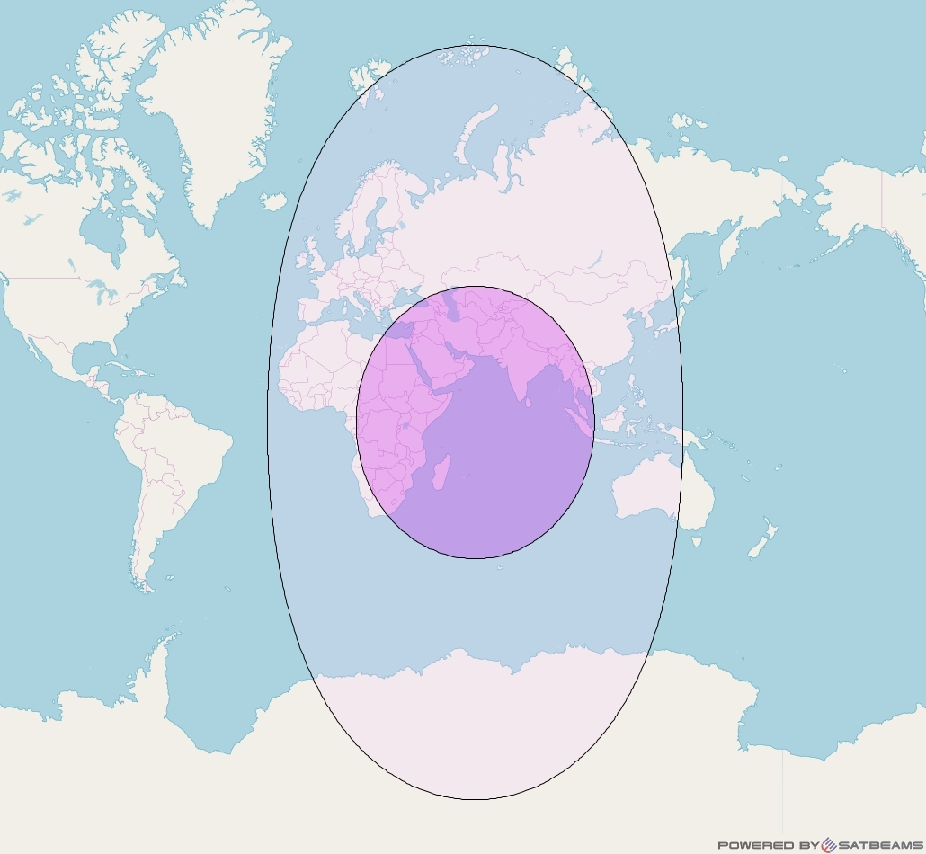 Intelsat 33e at 60° E downlink C-band Global (CGRD) beam coverage map