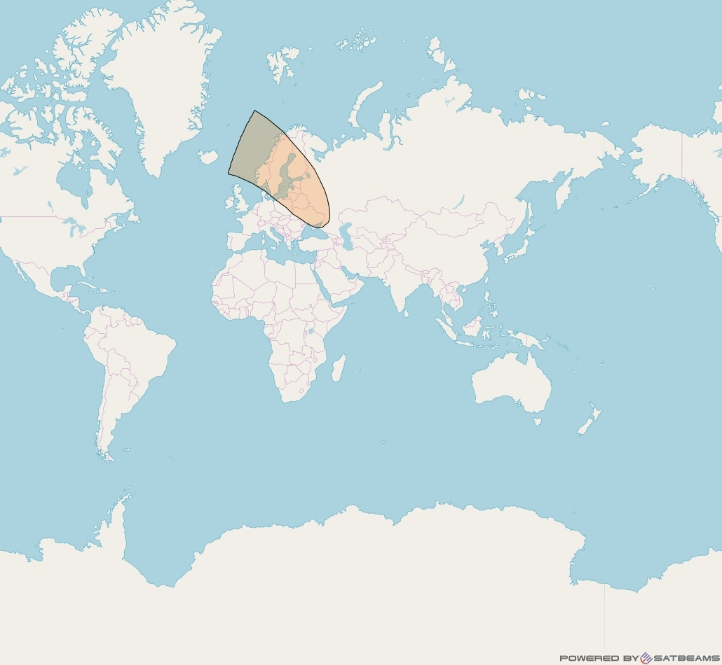 Inmarsat-5F1 at 63° E downlink Ka-band S28DL Spot beam coverage map