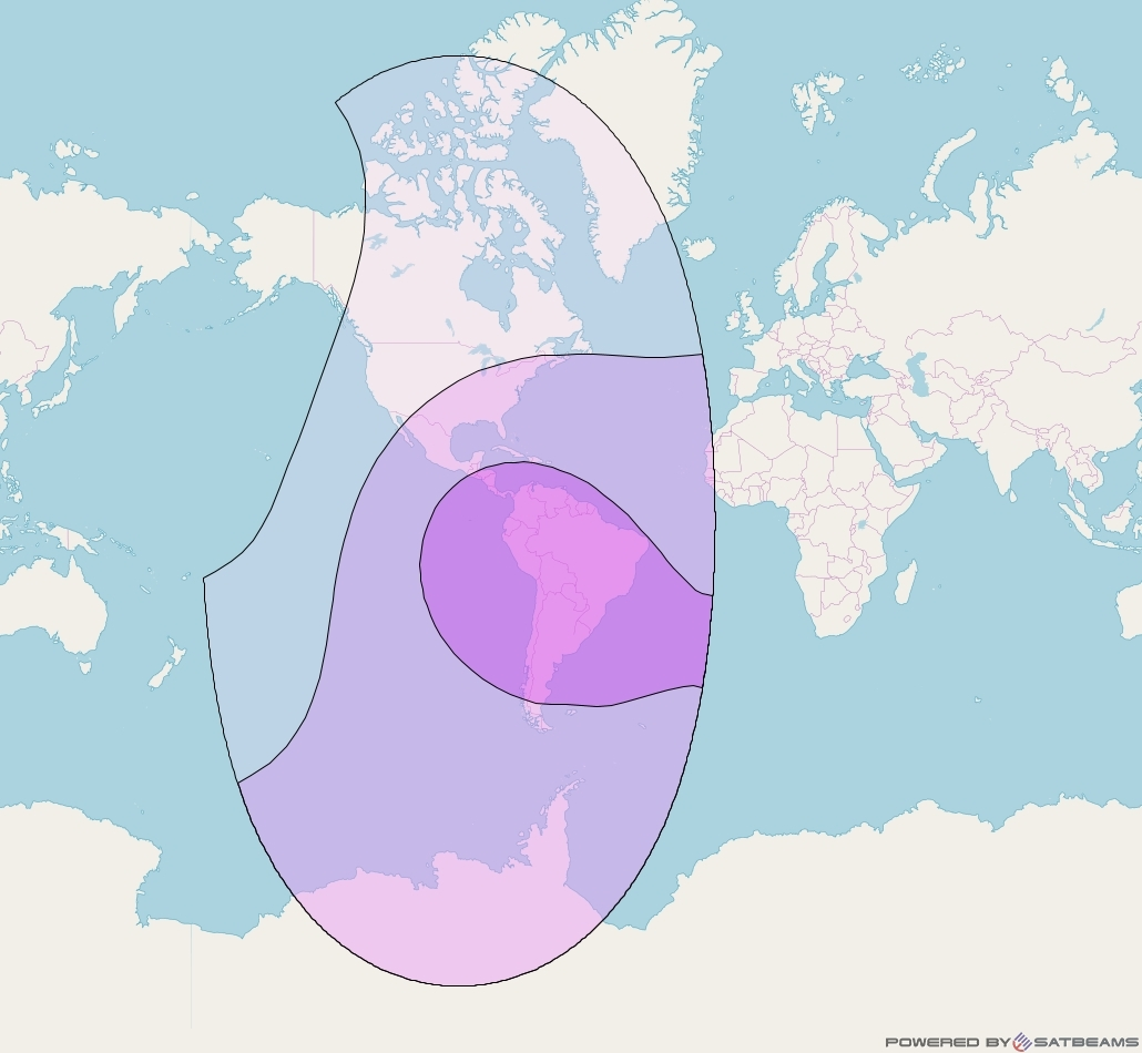 Intelsat 31 at 95° W downlink C-band Global beam coverage map