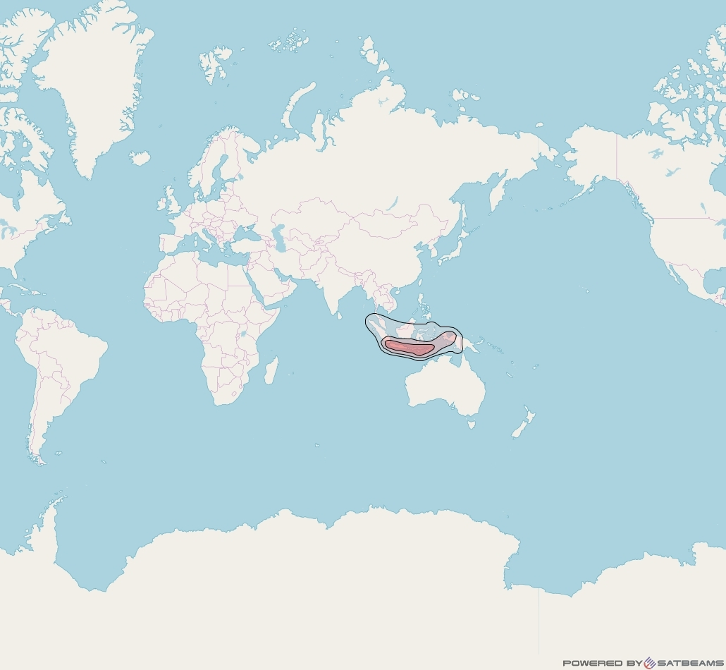 Chinasat 11 at 98° E downlink Ku-band Indonesia beam coverage map